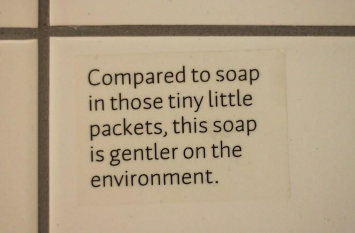 Scandic Vulkan - soap sticker
