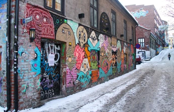 Street art in Oslo - a winter wonderland - the traveloguer travel blog