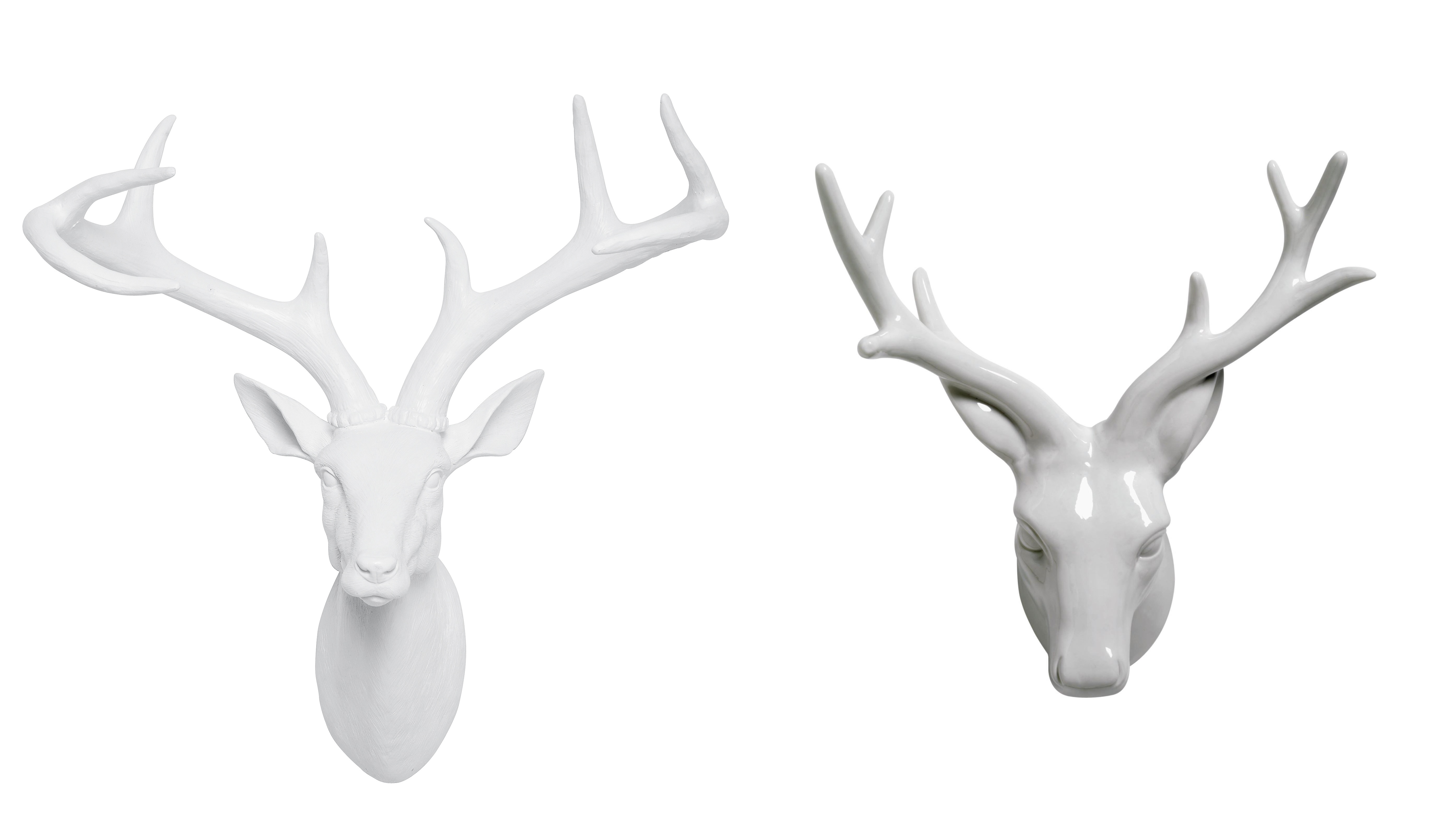 White Porcelain Deer Head Luxe For Less The Treasure Hunter Well Designed