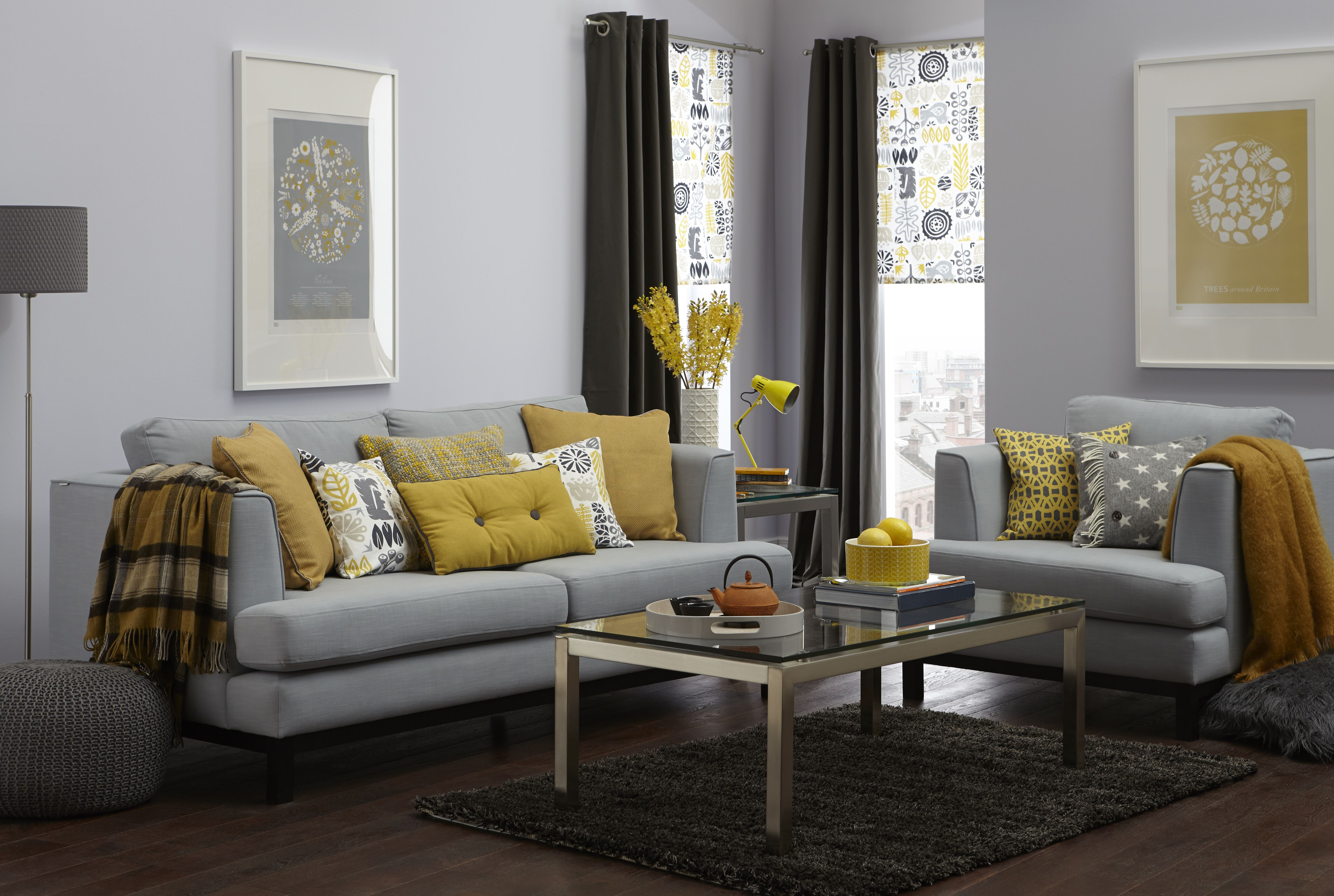 Yellow And Gray Living Room Decorating With Grey And Yellow The Treasure Hunter