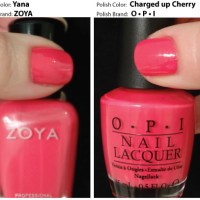 Polish Parallels Shades of Peach and Coral