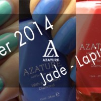 AZATURE Summer Nail Polish Swatches: Jade, Lapis & Coral