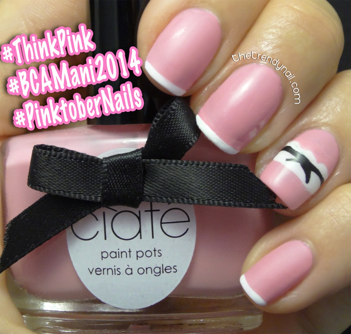 Think PINK Nail Art: Manicure's Raising Breast Cancer Awareness