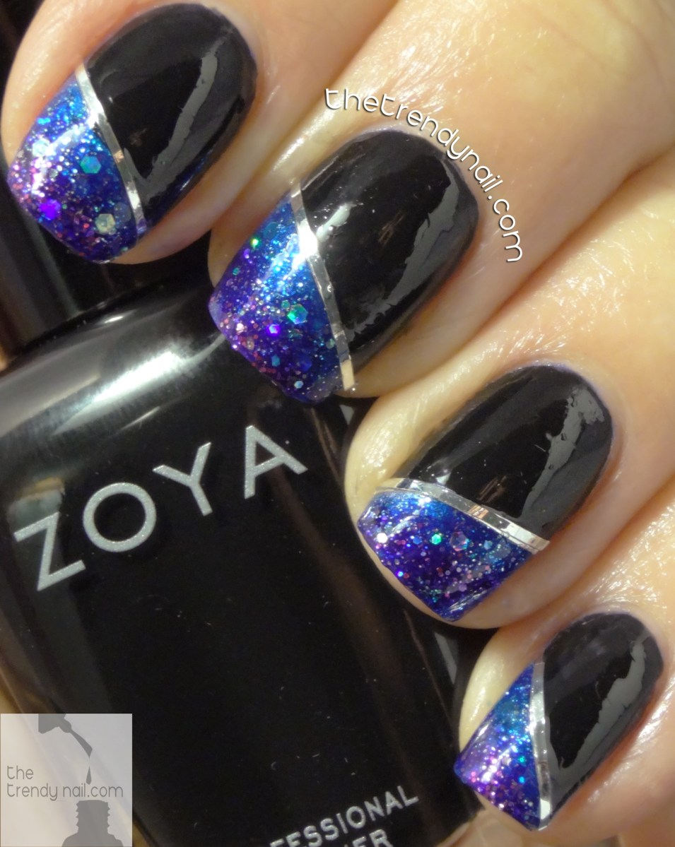 Gradient Nail Art Tutorial using Zoya Wishes Collection