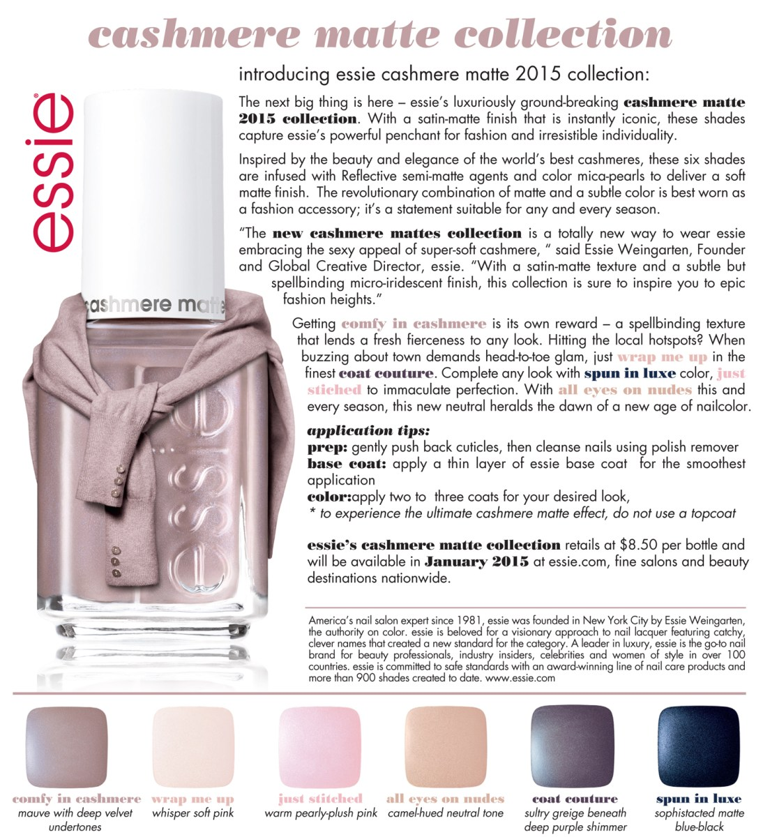 A CLOSER LOOK: ESSIE CASHMERE COLLECTION