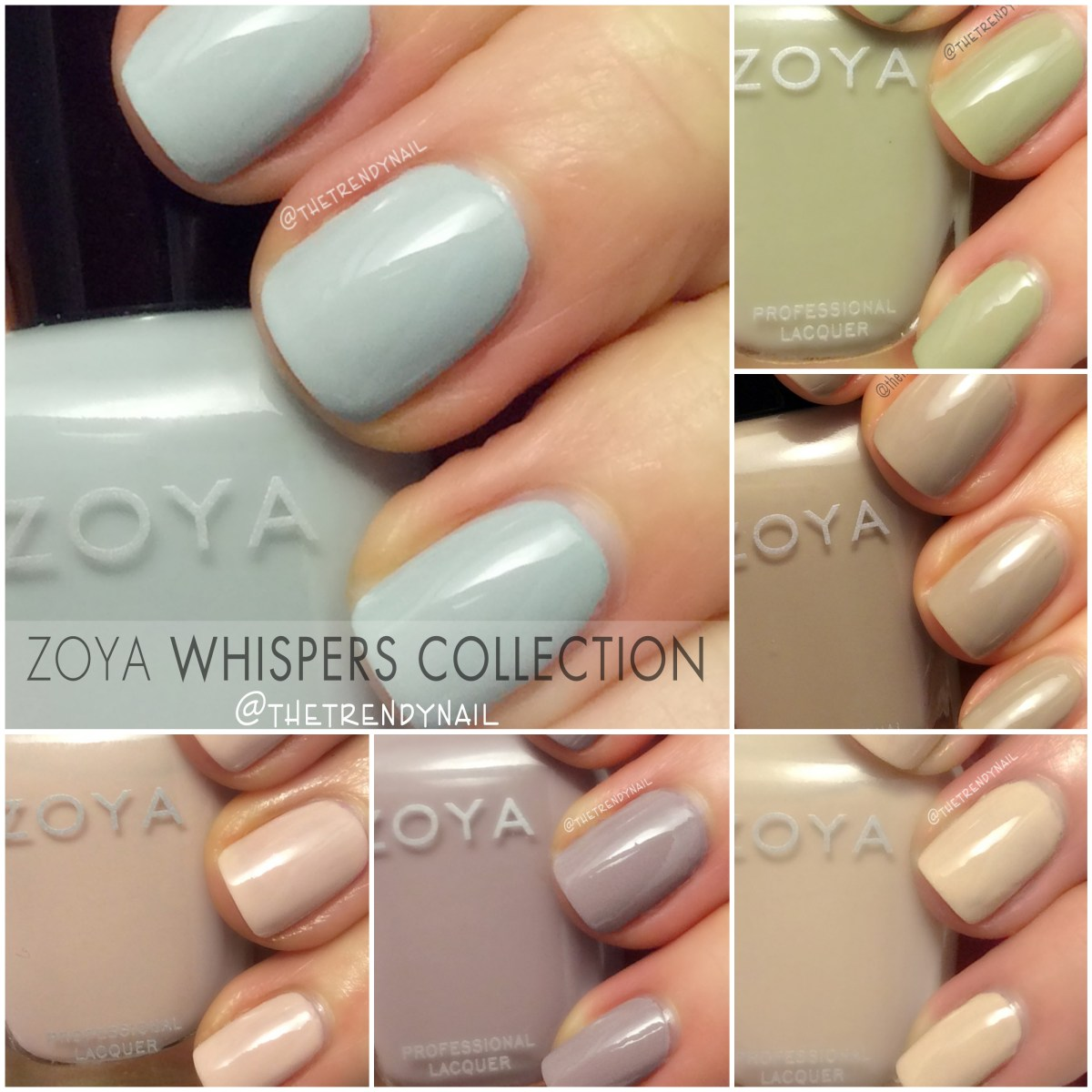 Swatches & Review: Zoya Whispers Collection