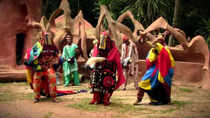 Bata Drums - African Bata Lebee Cultural Troupe - Osun Grove - YouTube