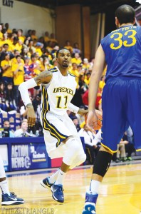 Sophomore guard Tavon Allen scored 19 points in his first action since spraining his ankle Jan. 11.