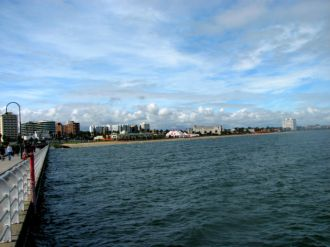St Kilda Pier looking back to the beach