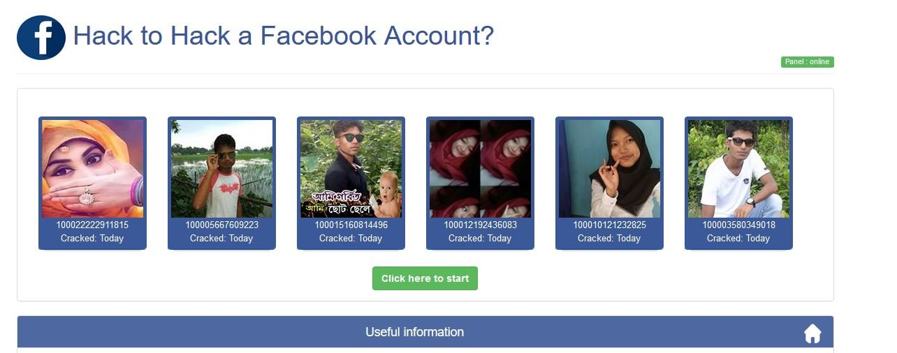 2# By using the Face Geek crack the password of the Facebook account