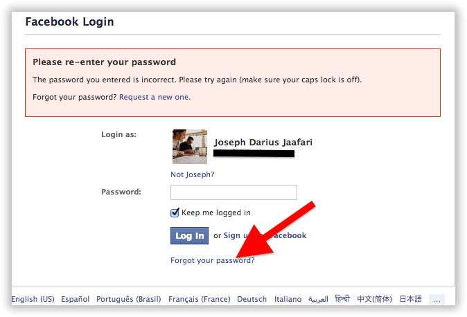 3# By using the Forgot Password process