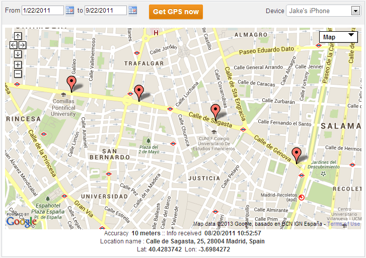 Use TheTruthSpy for Android Real-Time Location Tracking