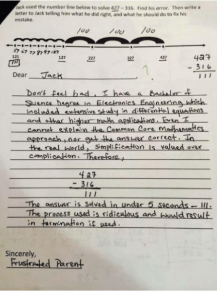 Common Core Math Problem