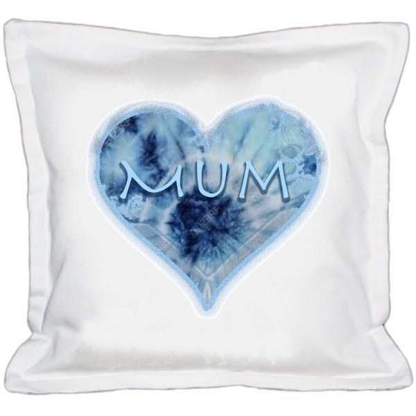 TieDye Mum Heart Cushion