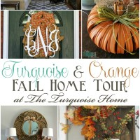 Turquoise and Orange Fall Home Tour