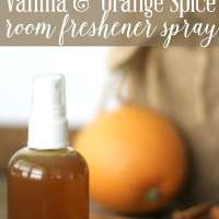 Vanilla & Orange Spice Room Freshener Spray (a fabulous holiday scent!)
