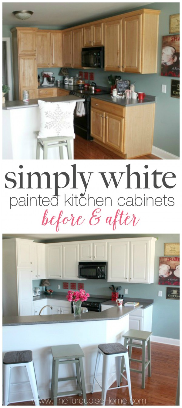 simply white painted kitchen cabinets white painted kitchen cabinets DIY Painted Kitchen Cabinets with Benjamin Moore Simply White