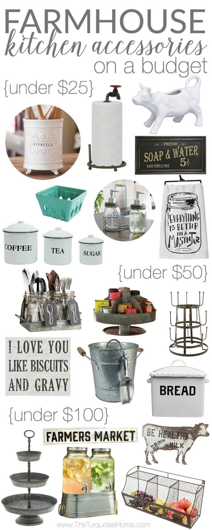 Kitchen Accessories And Decor Farmhouse Kitchen Accessories On A Budget