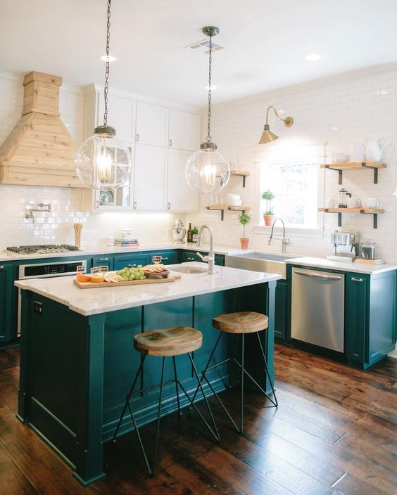Photos Of Kitchen Islands 14 Colorful Kitchen Island Ideas | The Turquoise Home