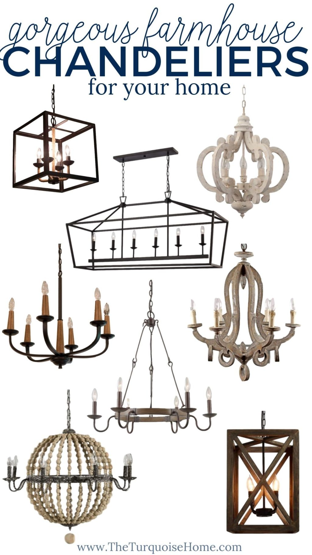 12 Beautiful Farmhouse Chandeliers For Your Home The Turquoise Home