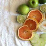 sliced fruit for sangria