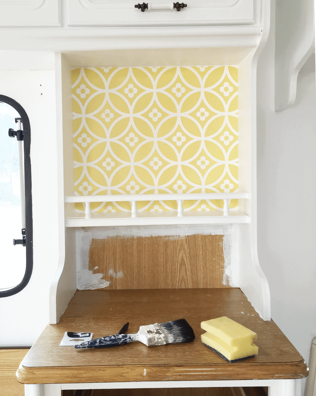 Decorating A Caravan Layla Faye Wallpaper Half On The