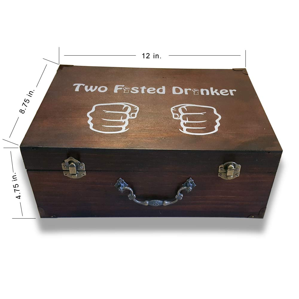 Gift Box Two Fisted Drinker Gift Box With Mug Dark Stain