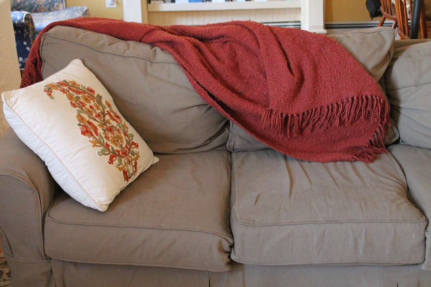 The sofa where I was able to lie down for some unmeasured amount of time and leisurely read to myself.