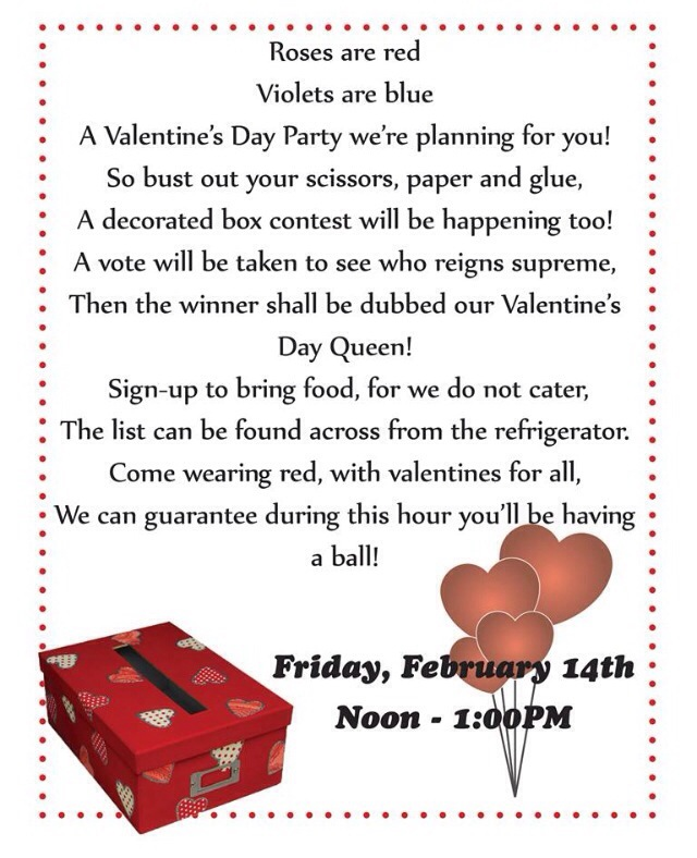 Valentine\u0027s Day Office Party Invitation The Undercover Princess - 's day party invitation