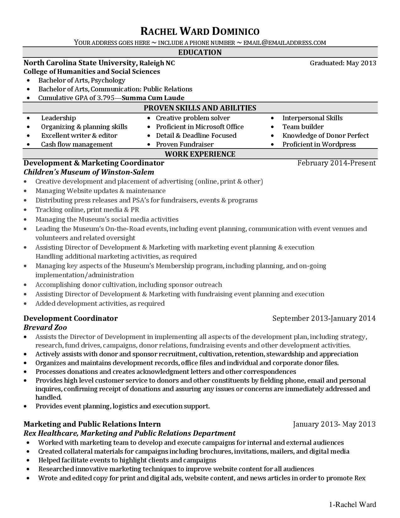 unfinished college degree resume