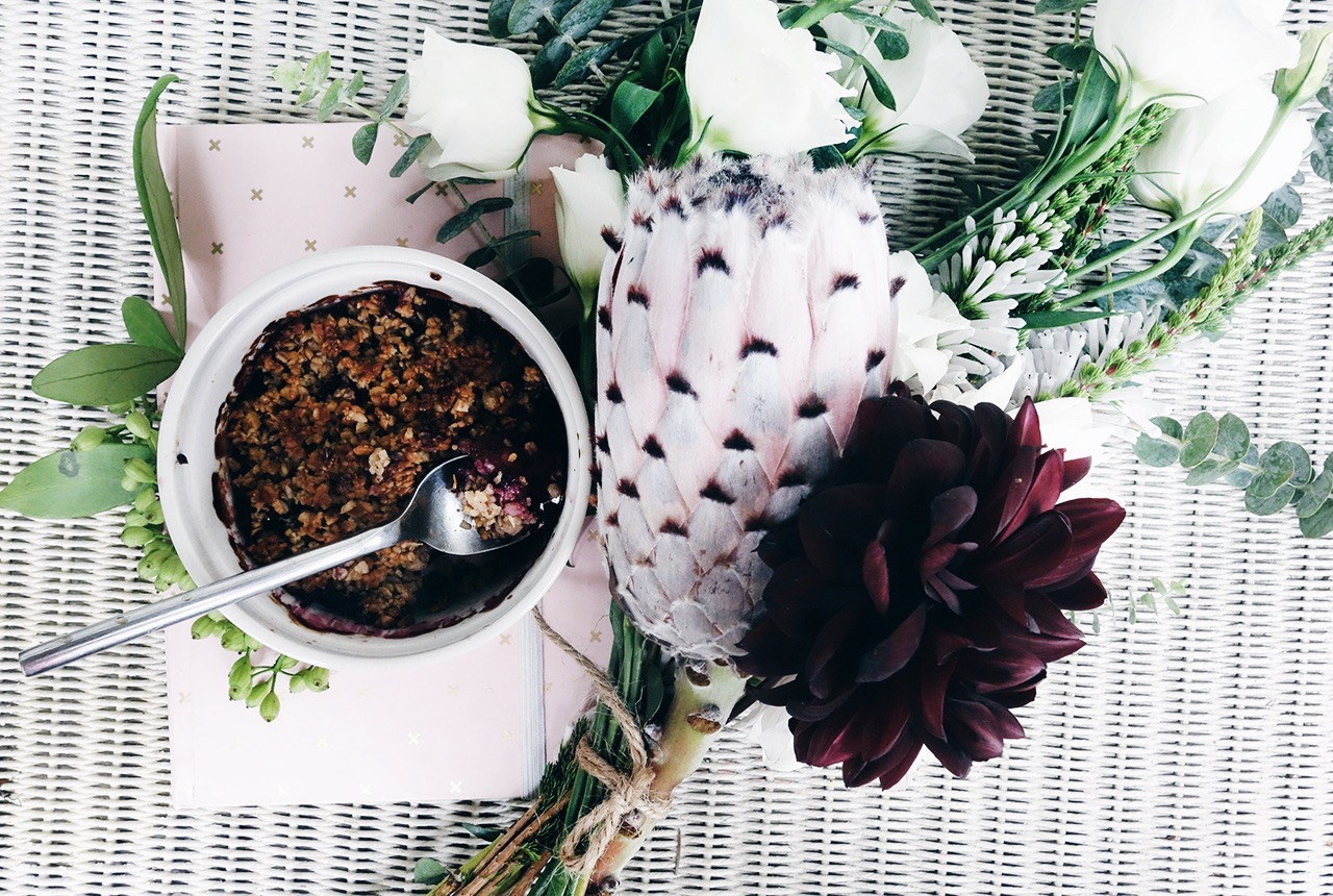 Healthy Feijoa Berry Crumble Frank Stationery Rose Tinted Flowers