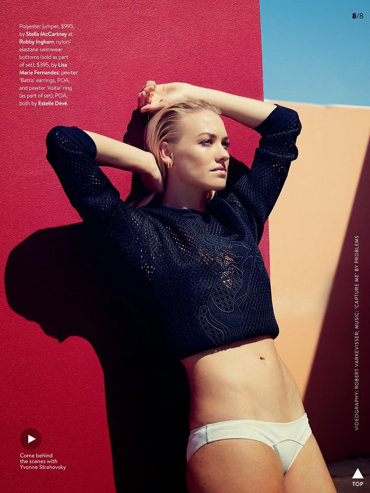 Hd Dexter Wallpaper Fashion Dexter Alum Yvonne Strahovski Poses For Gq