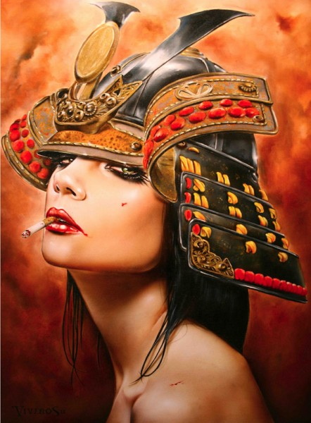 Chinese Little Girl Hd Wallpaper Brian M Viveros Paintings Show Powerful Insubordinate