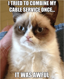 combine cable service unmarried