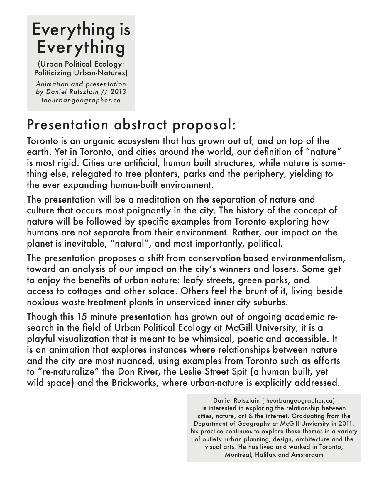 abstract for conference presentation