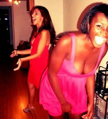 My gal pal Daniela and I cracking up!