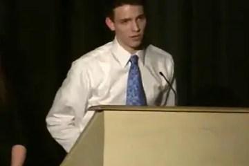 Jacob Rudolph at his graduation.