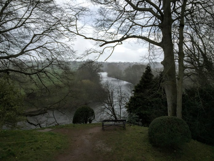 The River Wye at the Weir Garden in the rain!