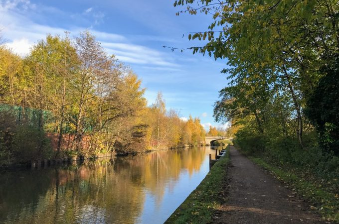 Towpath walk to the Trafford Centre
