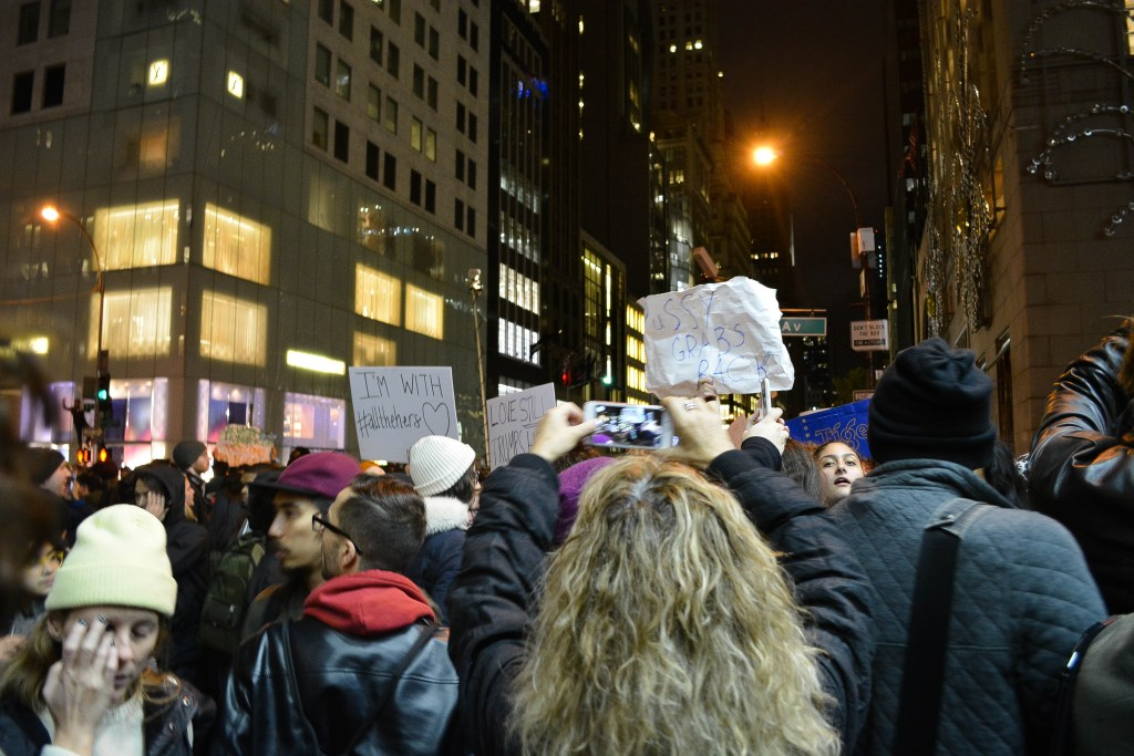 Protesters by the Trump Tower in New York City. Photo: Courtesy of<em>The Urban Watch</em>/Demi Vitkute