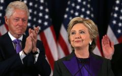 Democratic presidential candidate Hillary Clinton and her husband, former U.S. President Bill Clinton at her concession speech (Photo: Reuters/Carlos Barria)