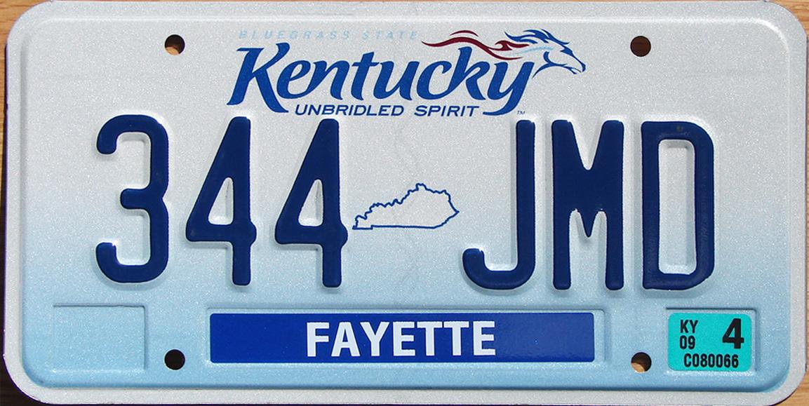 State Of Kentucky Launches Online Renewal Of License Plates