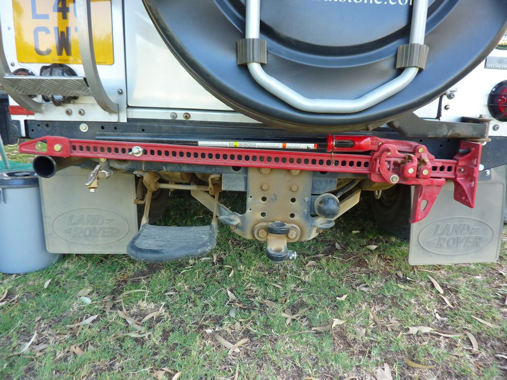 Hi Lift Jack Mounted On Rear For Easy Access
