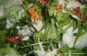 Λόλα, ρόκα και πράσινα μήλα - Green salad with apples