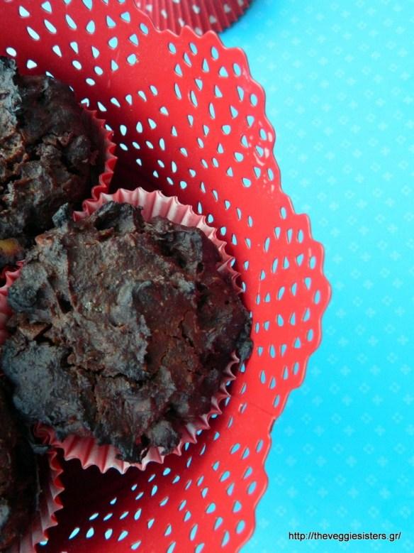 Σοκολατένια μάφιν με λουκούμα