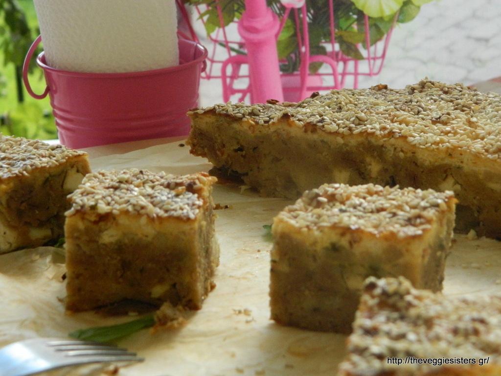 γυμνή τυρόπιτα με μανιτάρια κ χυλοπιτάκι