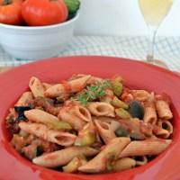 Πένες ( ζυμαρικά ) με μπριάμ - Penne with veggie casserole