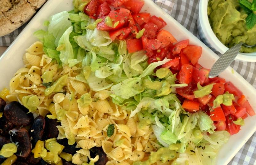 Σαλάτα με ζυμαρικά κ όσπρια, το απόλυτα υγιεινό γεύμα!
