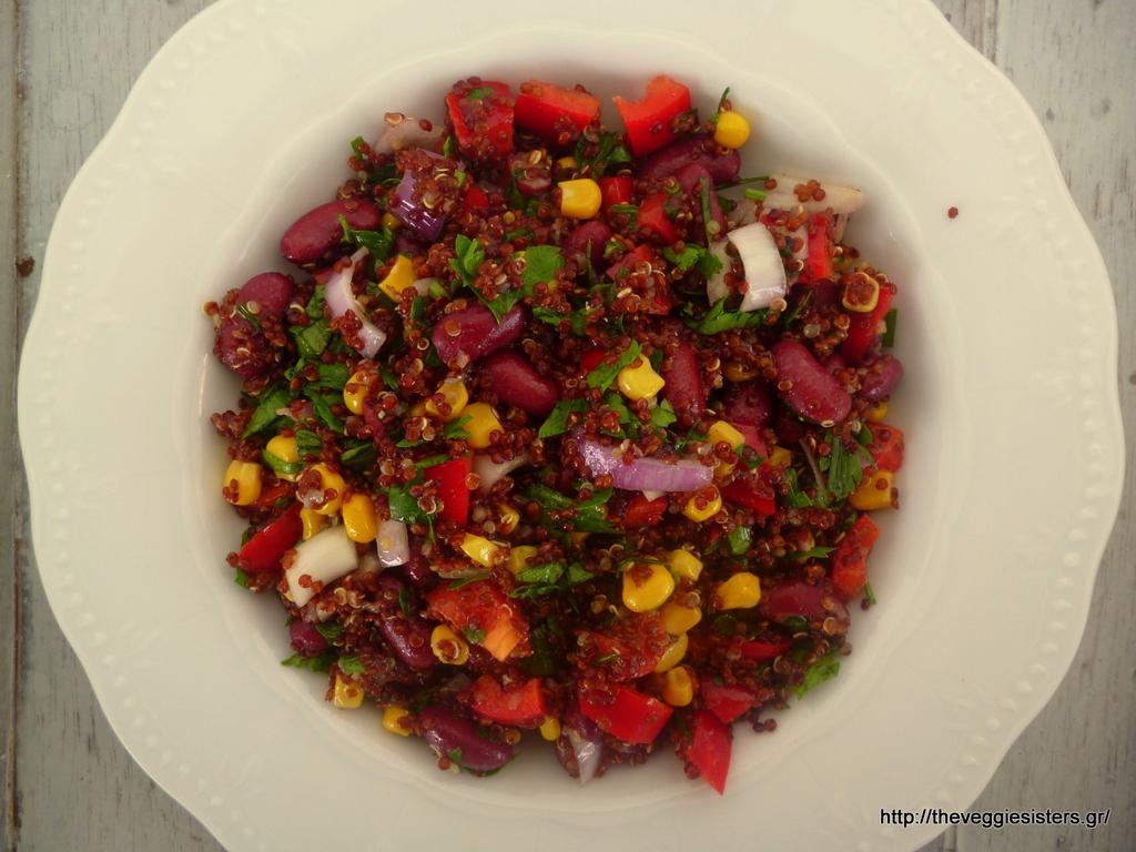 Μεξικάνικη σαλάτα με κινόα – Quinoa mexican salad