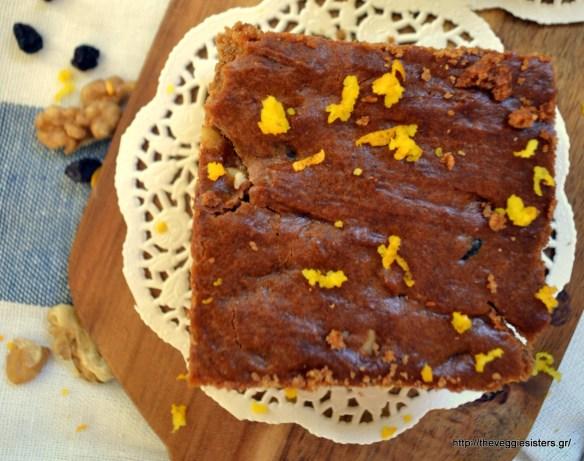 Το μελαχρινό (ή φτωχό) - Melachrino (traditional grape molasses cake)